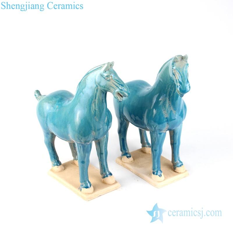 green horse figurine