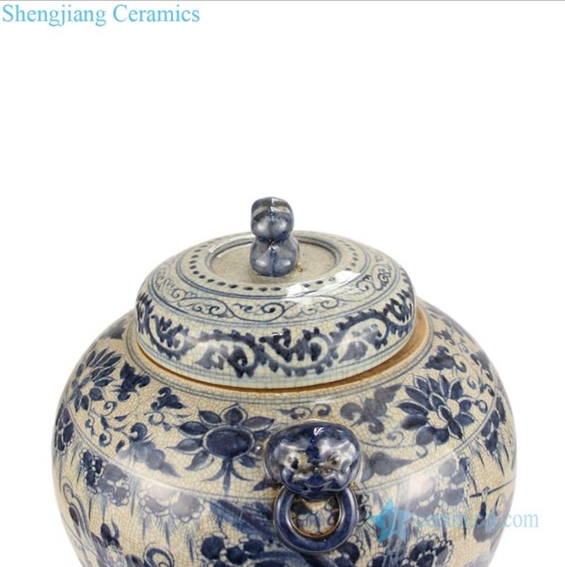 artistic horse pattern tea jar