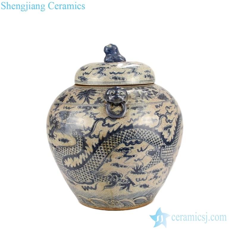 ceramic with knob tea jar