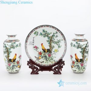 RZMN02 Jingdezhen elegant famille rose ceramic with animal design home embellishment