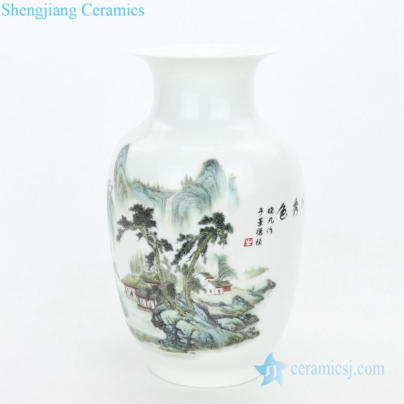 luxury decorative three-piece ceramic plate and vase