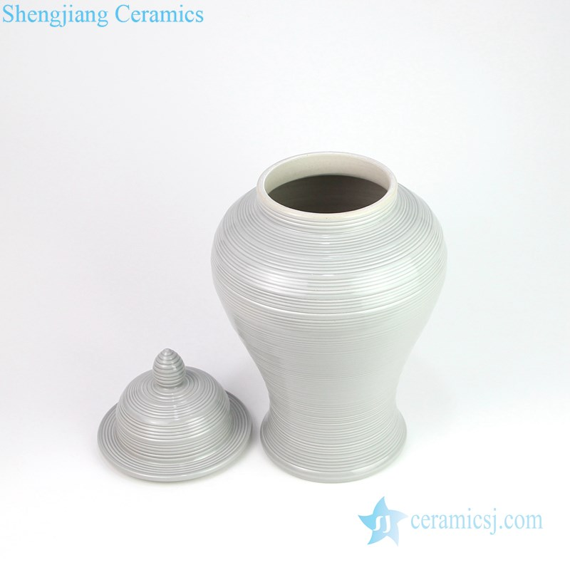 round mouth ceramic ginger jar