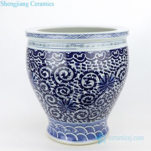 RZMV27 Shengjiang factory wholesale price ceramic with floral design pot