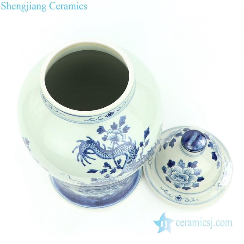 elegant dragon floral ceramic jar