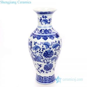 RZNJ04 Classical blue and white ceramic with special flower design vase