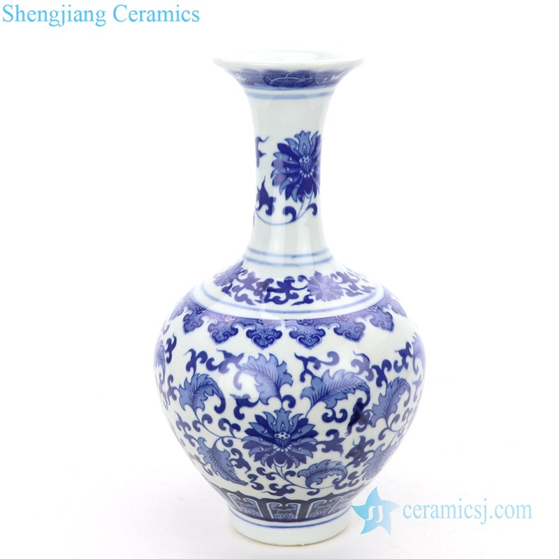 narrow neck ceramic vase