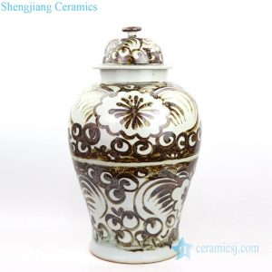 RZOX02 Chinese traditional iron rust reproduction jar of the Ming dynasty