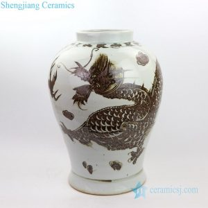RZOX05 Chinese artistic Ming and Qing dynasties dragon ceramic vase