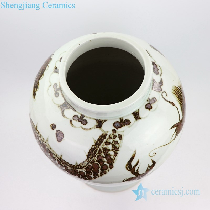 traditional porcelain jar with dragon design