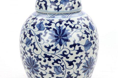 RZOY30 Shengjiang wholesale hand craft blue and white ceramic tea jar