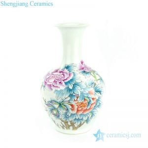 RZPC01 China peony pattern hotel decoration vase