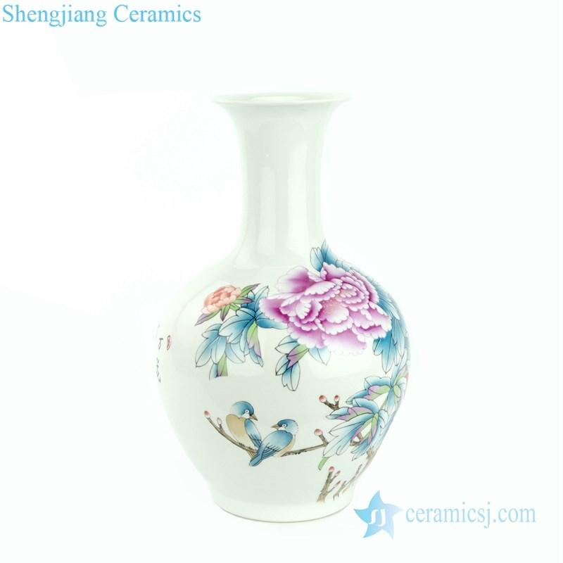 peony porcelain vase