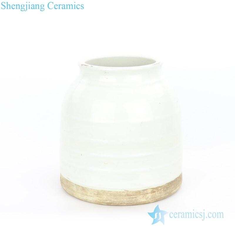 monochrome ceramic jar