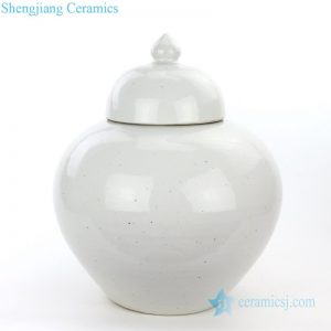 RZPI05-B Shengjiang company best selling white ceramic storage jar