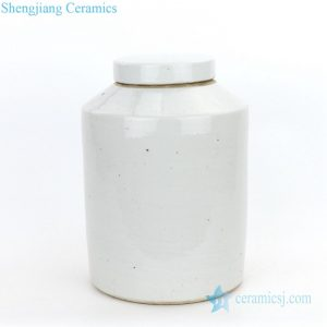 RZPI09 Jingdezhen antique plain color tea jar