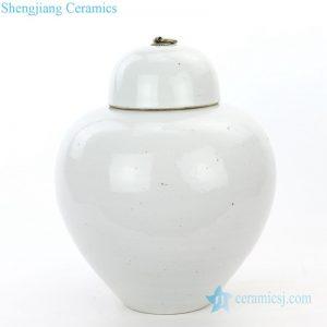 RZPI13 Small covered refractory storage ceramic jar