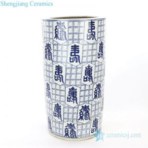 RZPI14 Jingdezhen ancient hand painted ceramic umbrella stand means longevity