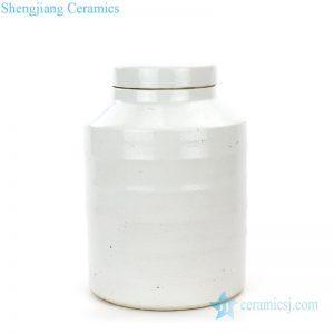 RZPI19 Antique monochrome glazed ceramic tea jar