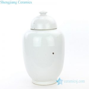 RZPI21 Conventional monochrome ceramic jar with lid