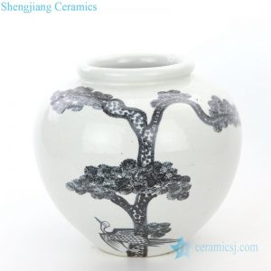 RZPI22-A Simple style ceramic with pine tree design vase