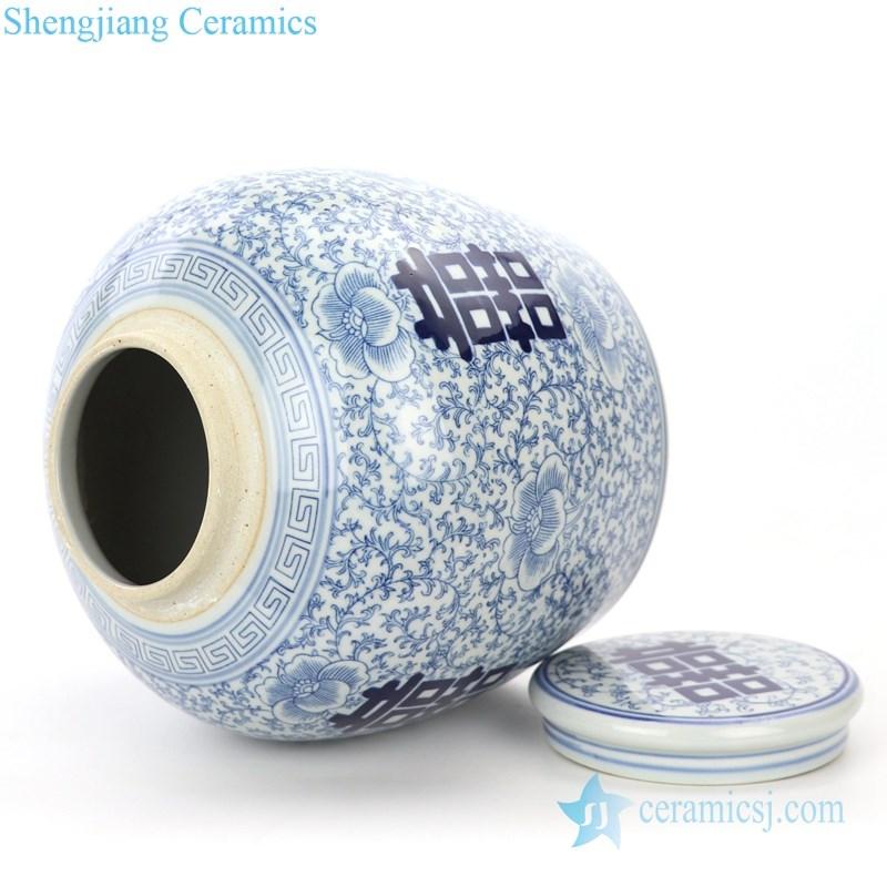 dubble happiness ceramic tea jar