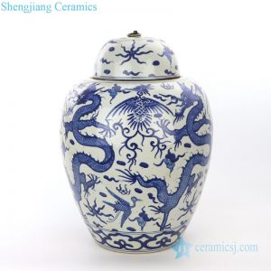RZPI27-A Jingdezhen ancient hand painted ceramic jar with lid