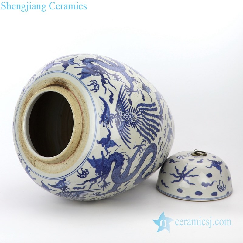 traditional blue and white ceramic jar