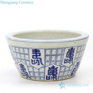 RZPI28 Shengjiang factory blue and white ceramic pot