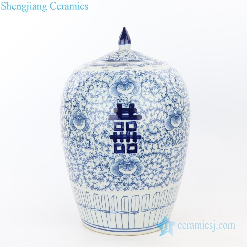 ancient hand painted ceramic jar