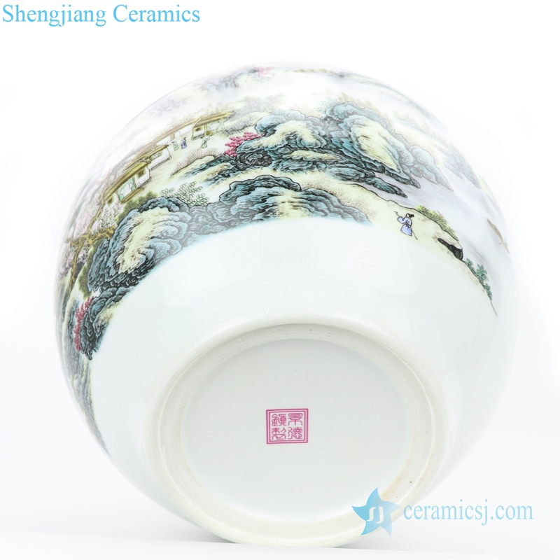 round and fat body ceramic vase