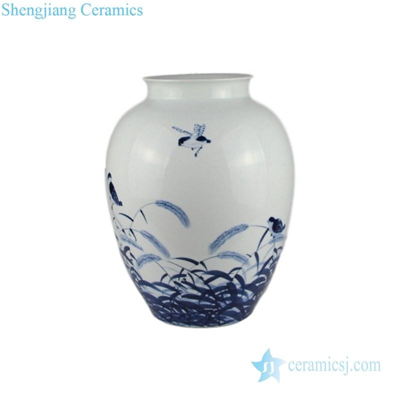 elegant blue and white ceramic vase