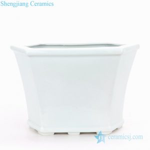 RZPS01 Shengjiang company plain color six sides ceramic planter