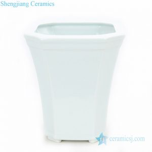 RZPS02 Chinese creative white special shape ceramic planter