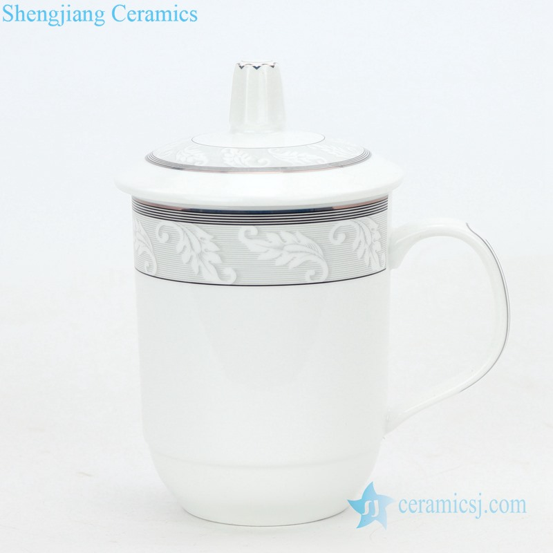 ceramic tea cup with simple pattern