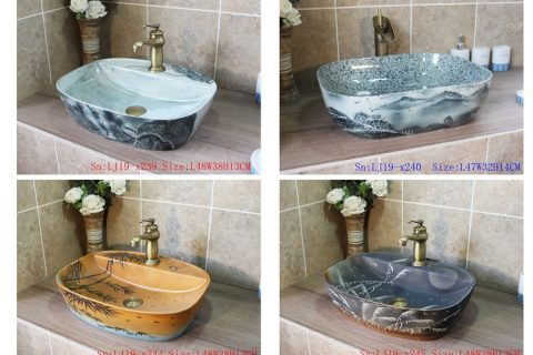 2019 Shengjiang exquisite arts and crafts ceramic wash basin