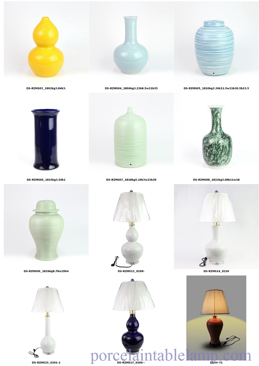 colorful ceramic lamps