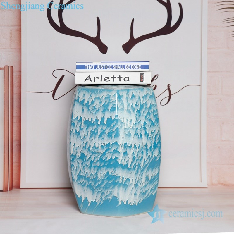 RYIR109-GIJKL Transitional glaze melting glaze style porcelain stool