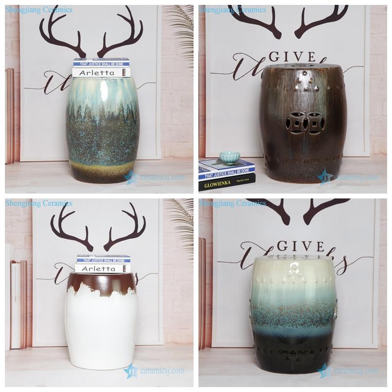 Mix color ceramic stool