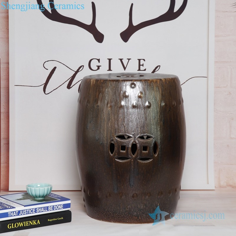 metal style ceramic stool