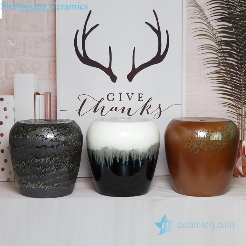 spray glaze ceramic stool