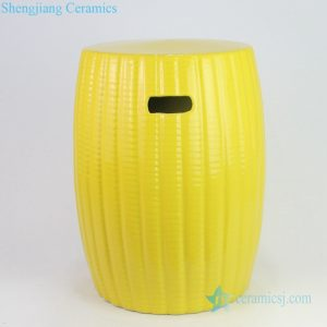 RYIR135 Bright yellow corn style porcelain stool