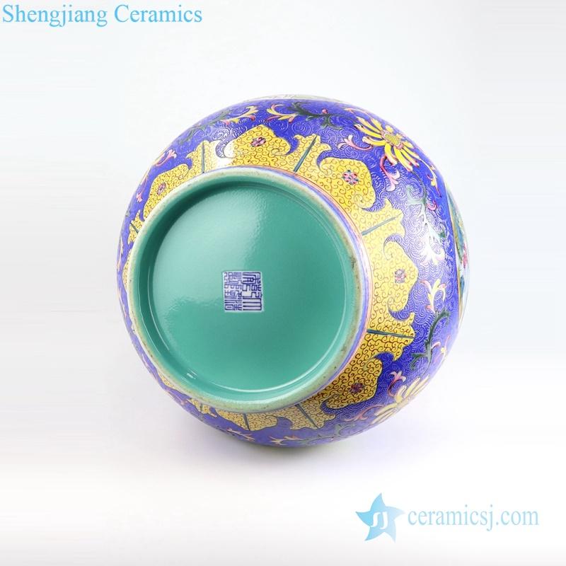 blue hand paint porcelain vase