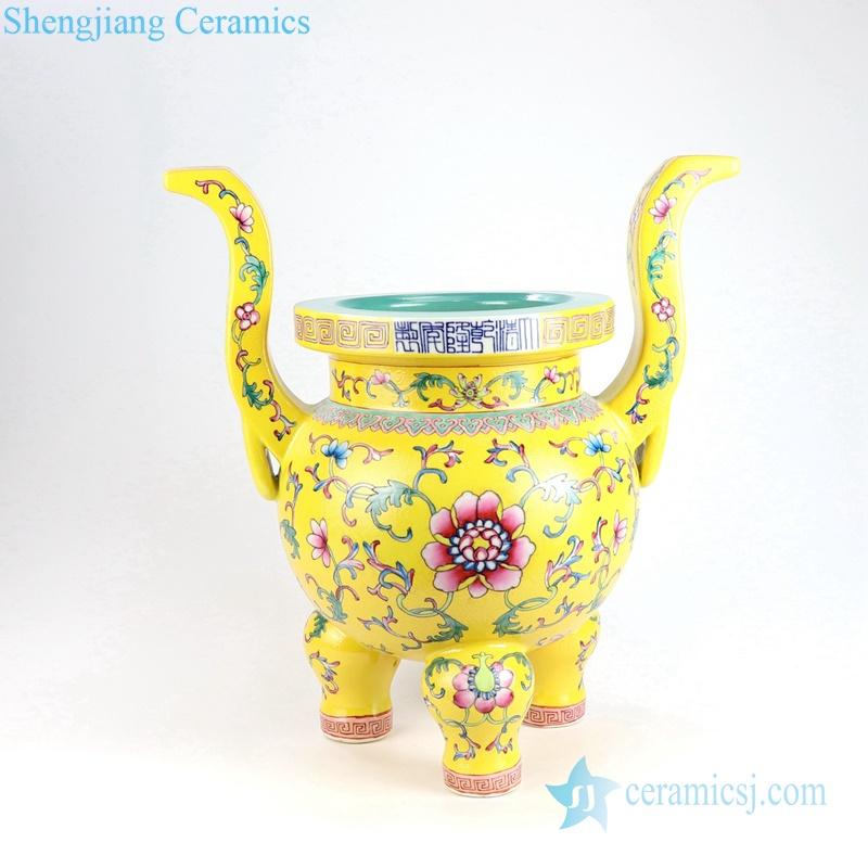 cherish buddha set of 5 porcelain censer