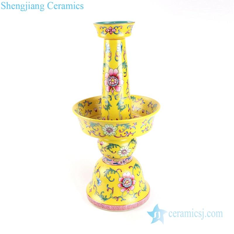 cherish buddha set of 5 porcelain candle holder