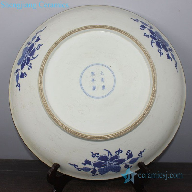 elegant tabletop ceramic decorative plate