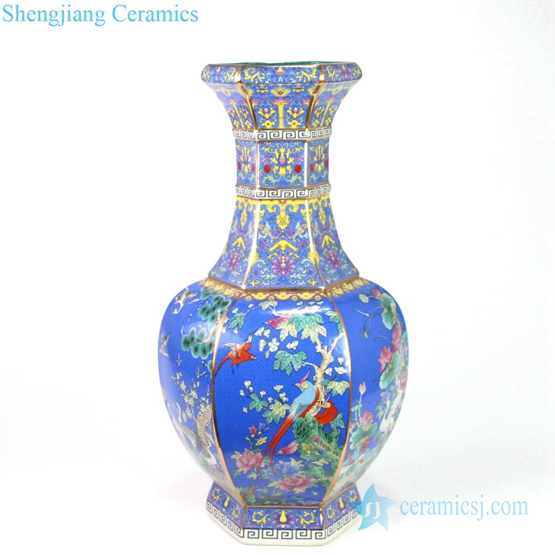 blue antique porcelain vase
