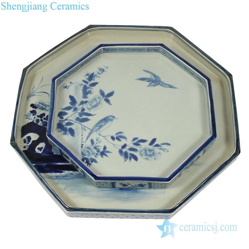 octagon porcelain plate