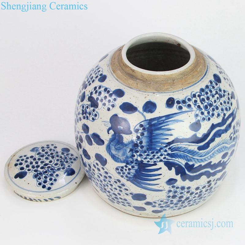 hand painted ceramic tea jar