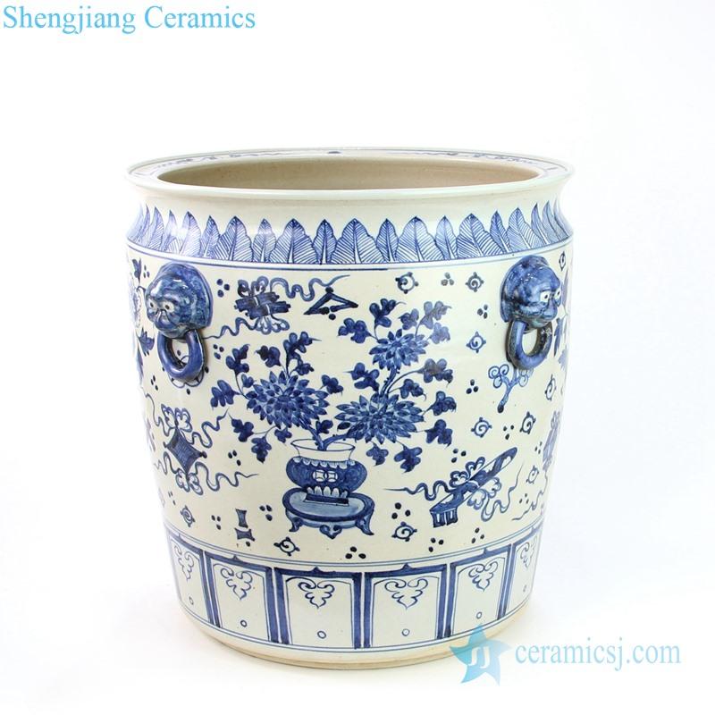 two handles ceramic fish bowl