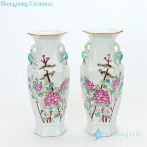 RZIH06-C Shengjiang ancient flower and bird design ceramic vase